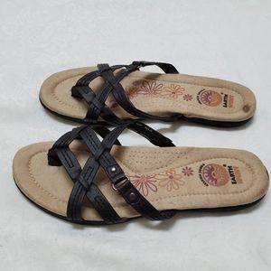 Earth Spirit Women's Sandals 6 Black cushioned
